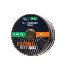 Поводковый материал в оплётке Carp Pro 15 lb 7 м коричневый