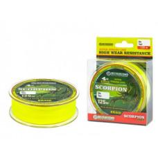Плетеный шнур BUSHIDO SCORPION Х-4 125м (ярко-желтый)