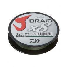 """Шнур Daiwa """"J-Braid X8"""" 150 м зеленый"""