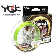 Шнур YGK G-Soul Upgrade PE X8 200m green
