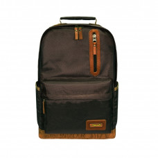 Рюкзак Aquatic Р-26ТКРД городской (тёмно-коричневый, рыжее дно)