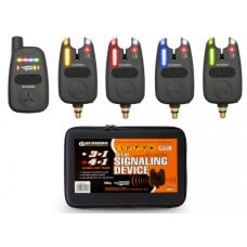 Набор сигнализаторов поклёвки BUSHIDO SIGNALING DEVICE 401 4шт+1пейджер
