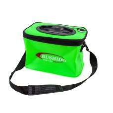 Кан BUSHIDO зеленый прямоугольный с ручками и ремнем 30*21*20 см
