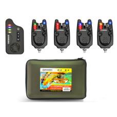 Набор сигнализаторов поклёвки BUSHIDO SIGNALING DEVICE 409 4шт+1пейджер