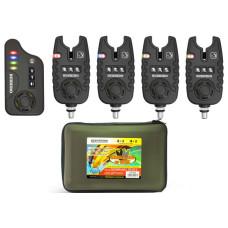 Набор сигнализаторов поклёвки BUSHIDO SIGNALING DEVICE 422 4шт+1пейджер