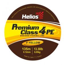 Шнур плетеный Helios PREMIUM CLASS 4 PE BRAID Fluorescent Yellow (92 м)