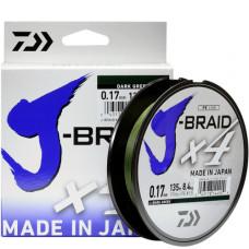 """Шнур Daiwa """"J-Braid X4"""" темно-зеленый"""